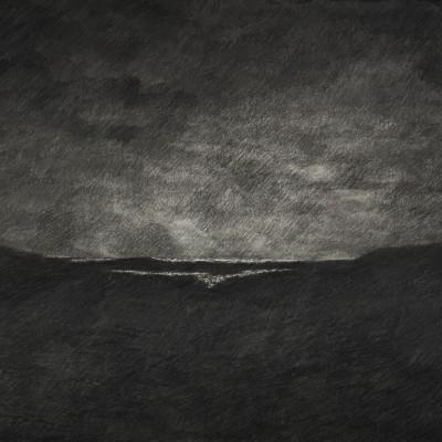 5-La Vaguada de noche. 2015. Grafito sobre papel Arches. 60 x 80 cm